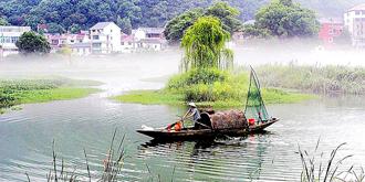 晨雾中的渔家女