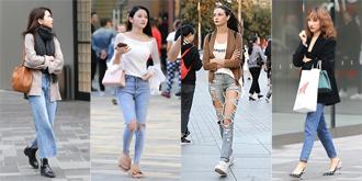 街拍:牛仔裤的花式穿法