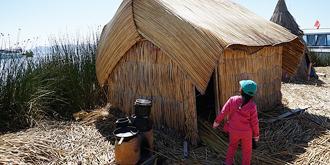 他们住在芦苇搭成的房子里