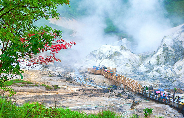 日本地狱温泉,游客多到一房难求
