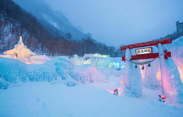 北海道的小众温泉地,3月还有冰瀑节看