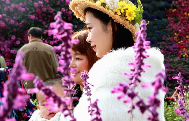 重庆城市花博会掠影:花美人更美