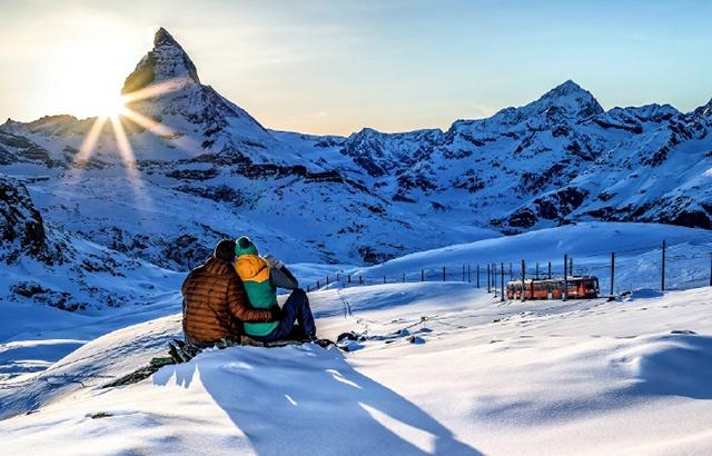 瑞士冬日的冰雪奇缘,无数游客慕名而至