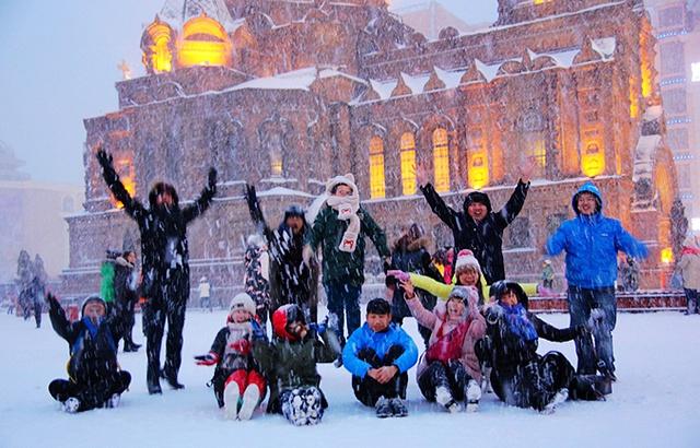 实拍:飘雪的哈尔滨如此浪漫惬意