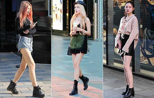 街拍:夏日短靴美女,又酷又颯