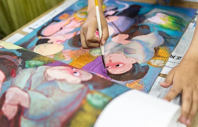 农民用切菜板作画,被誉为东方毕加索