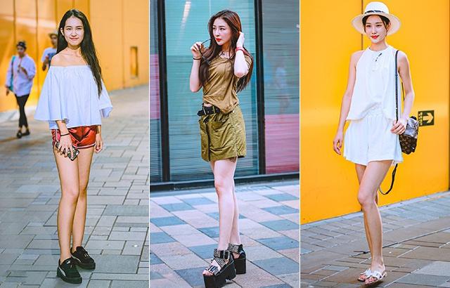 街拍:夏日清涼美女,大長腿搶眼
