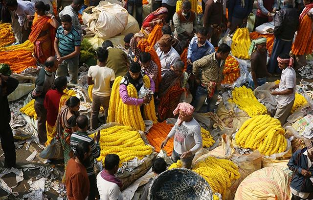 印度鮮花市場,這里與浪漫無關