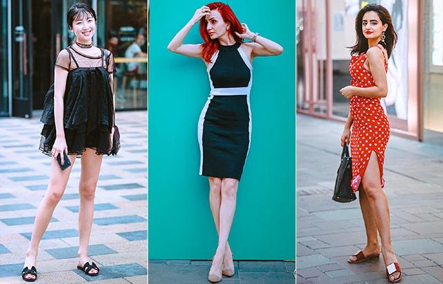 Street photo: gorgeous dress fashion girl