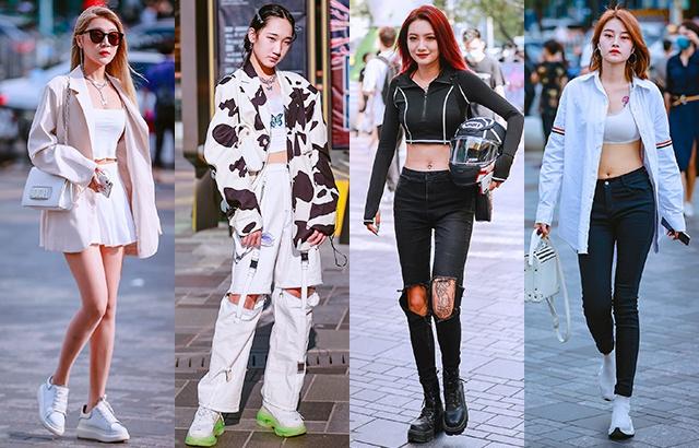 三里屯街拍:現在的年輕人喜歡穿什么