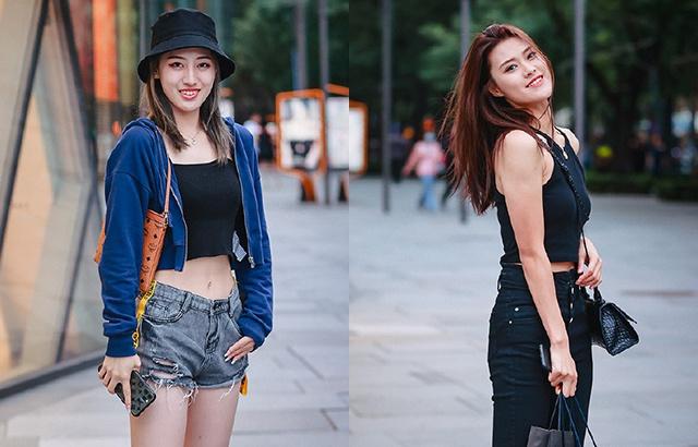 街拍:活泼大方的个性潮女