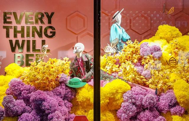 悉尼不可错过的风景:百货商店的鲜花展