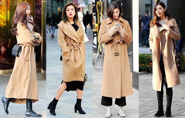 街拍:驼色大衣,越穿越有格调