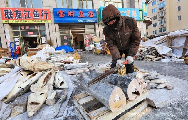 厲害了!黑龍江人這樣賣魚