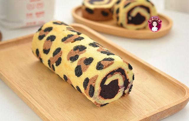 性感甜蜜的豹紋蛋糕卷是怎么做出來的