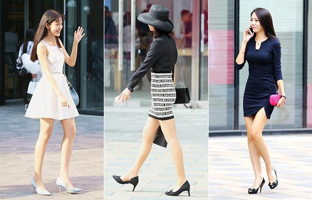 街拍:高跟鞋美女,秀出完美大長腿