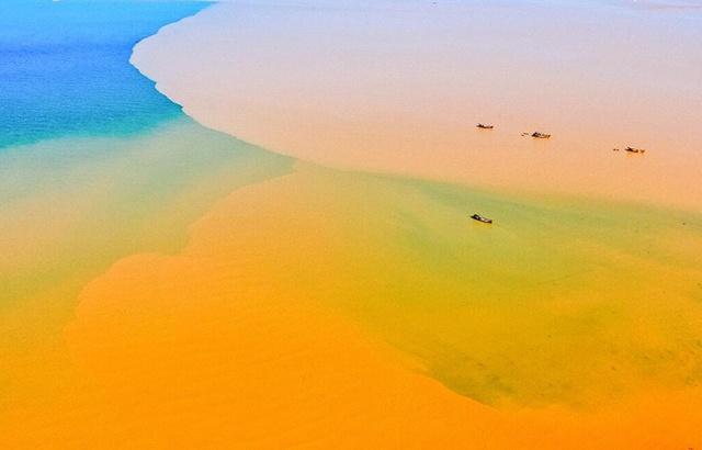 黄河入海口,黄蓝交汇的神奇景观