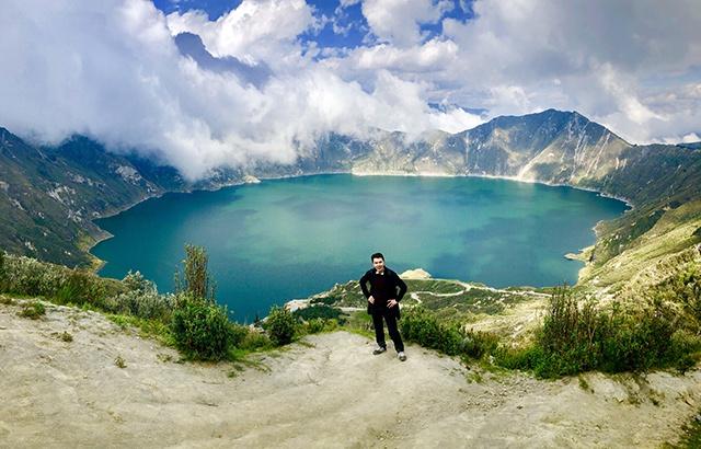 厄瓜多爾猶如人間仙境的火山湖