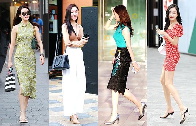 街拍:高跟鞋潮女,越夏越美麗