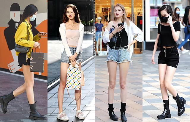 街拍:初秋时节的短裤美女