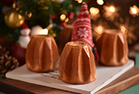 贵气十足的圣诞黄金面包