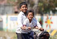 贫穷但幸福感十足的孩子