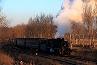 远去的蒸汽火车
