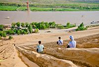 宁夏中卫沙与河的奇观