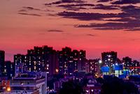 京城的晚霞美呆了