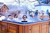 冰天雪地里泡溫泉