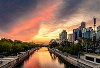 通惠河上的晚霞