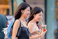 北京街頭的時尚美女