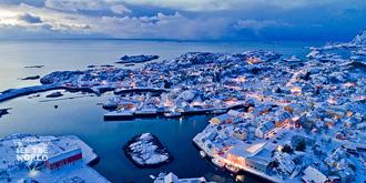 被冰雪覆盖的城市