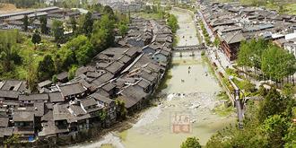 一脚踏三省的青木川古镇