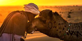 摄人心魄!印度沙漠风情