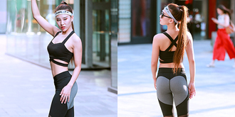 运动型美女身材超赞