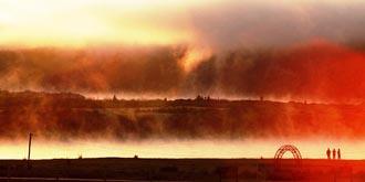 中俄边境的早晨