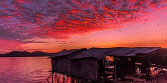 让我终生难忘的日落美景