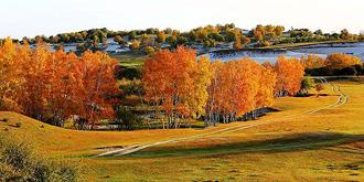 乌兰布统色彩斑斓的秋色