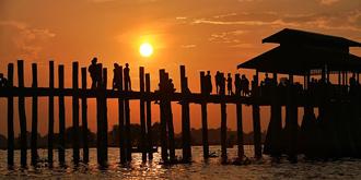 缅甸最美日落