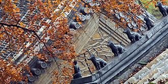 北京最古老寺庙的禅意晚秋