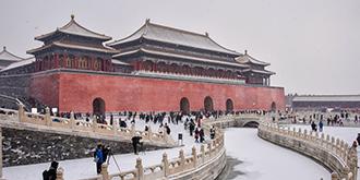 下雪,唤醒故宫最初的美