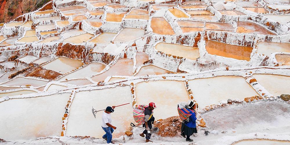 秘鲁古老盐田
