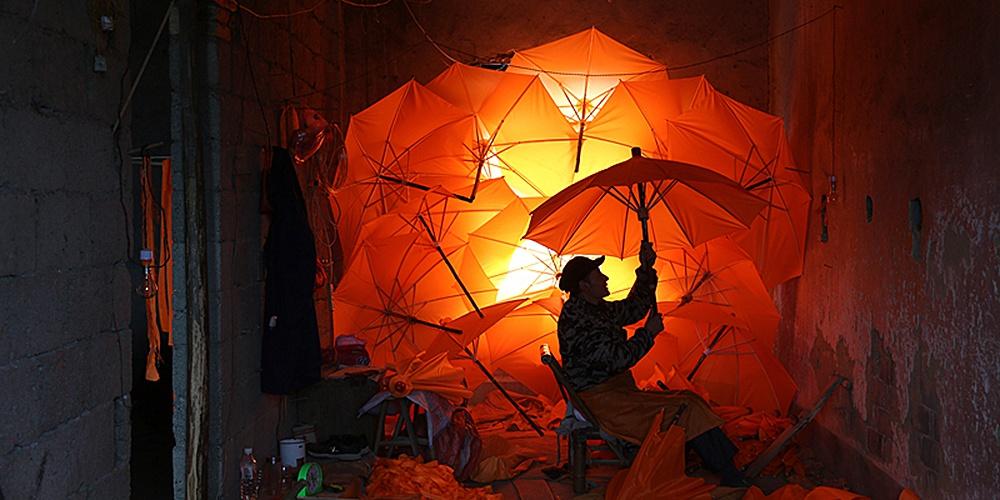 油布傘工藝