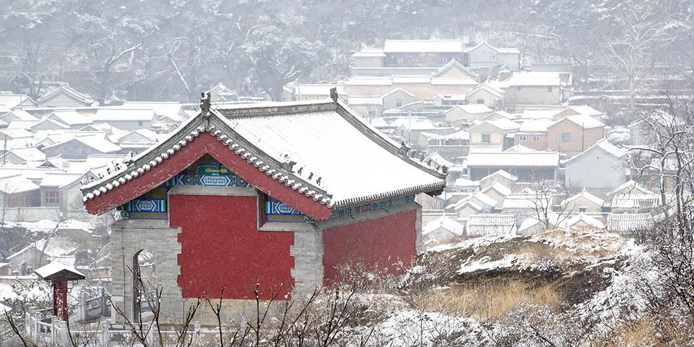 北京初雪好美