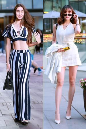 街拍:三里屯小姐姐的时尚穿搭