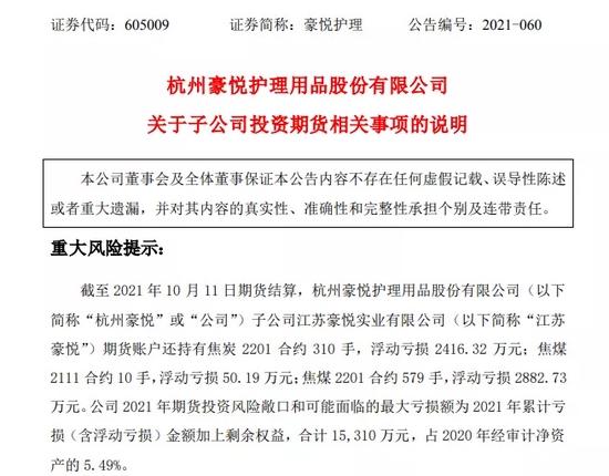 纸尿裤公司炒期货浮亏近7000万,交易所火速关注!