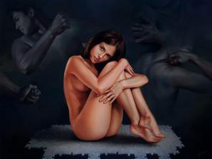 极致美感的女体油画