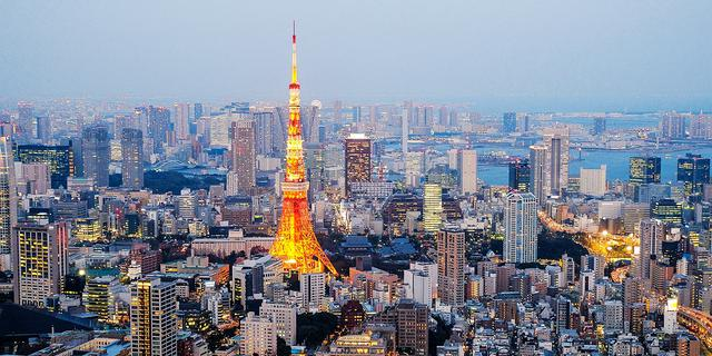在六本木森大厦看美丽东京夜色