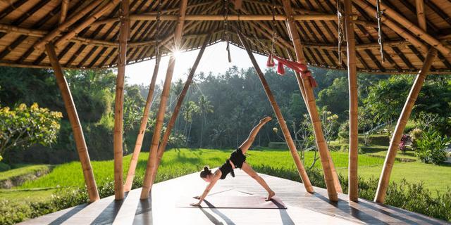 在巴厘岛来一次雨林瑜伽